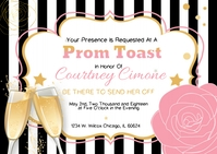 Prom Send-Off Invitation A6 template