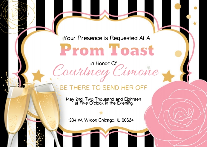 Prom Send-Off Invitation
