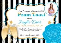 Teal Prom Send-Off Invitation