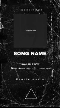 promo release album cover story template Historia de Instagram