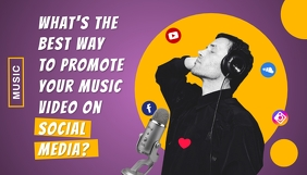 Promoting Music Blog Post Header template
