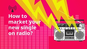 Promoting on Radio Blog Post Header template