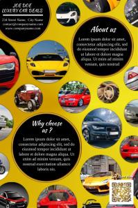Cute promotion brochure for luxury auto deals - Gold version