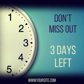 Promotion clock video instagram