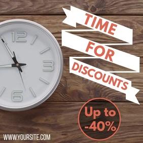 Promotion discount clock video instagram template