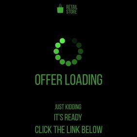 Promotion offer loading video instagram