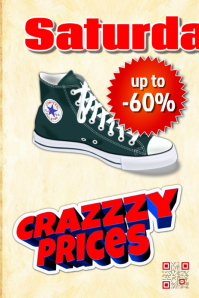 Promotion poster for retailer - Theme: Shoes and clothing