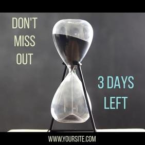 Promotion sand clock video instagram