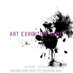 2090 Art Exhibition Customizable Design Templates