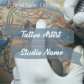 Promotional Instagram post template Tattoo