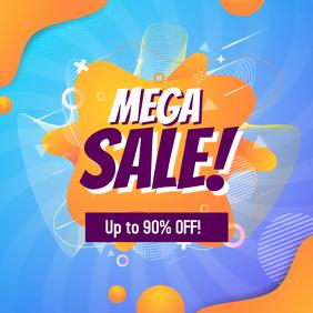 Promotional Mega Sale Ad
