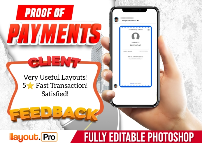 Proof of Payments Carte postale template