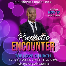 PROPHETIC ENCOUNTER CHURCH FLYER