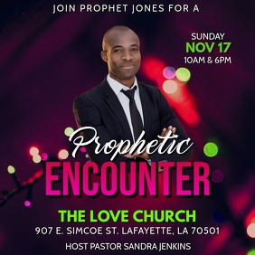 PROPHETIC ENCOUNTER CHURCH FLYER