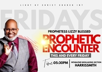 Prophetic encounter Postcard template