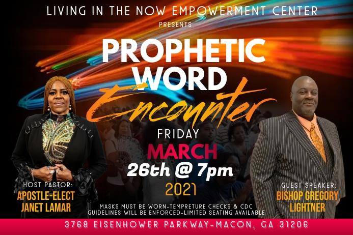 Prophetic Encounter Label template
