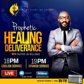 prophetic healing deliverance flyer Instagram Post template
