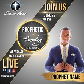 PROPHETIC sunday service ad social media post