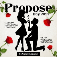 Propose Day in Covid 2021 Template Instagram Post