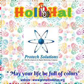 protech solution - happy holi