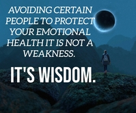 PROTECT AND WISDOM QUOTE TEMPLATE Persegi Panjang Sedang