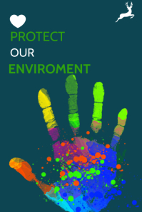 PROTECT OUR ENVIROMENT TEMPLATE Affiche