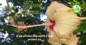 protect the earth Facebook Advertensie template