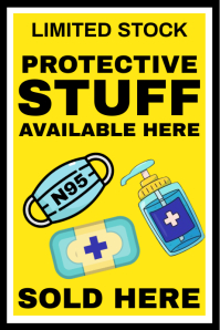 Protective Stuff Available Sign Template Banier 4'×6'