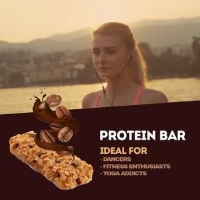 Protein Bar chocolate สี่เหลี่ยมจัตุรัส (1:1) template