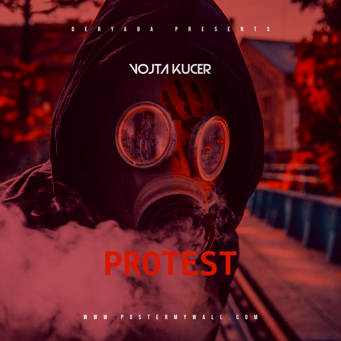 Protest Mixtape CD Cover Template