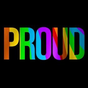 PROUD Quote - Rainbow Flag