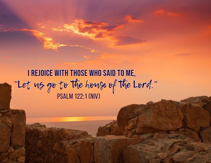 Psalm 122:1 传单(美国信函) template