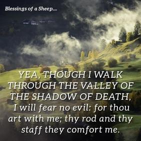 Psalm 23:4 - Safe Passage Instagram Post template
