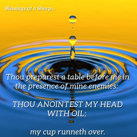 Psalm 23:5-Head Anointed with Perfumed Oil Pos Instagram template