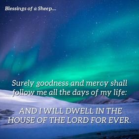 Psalm 23:6-Faith In Eternal Life Instagram-opslag template