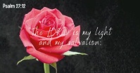 Psalm 27:12 bible quote verse facebook video template
