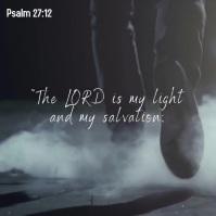Psalm 27:12 bible quote verse facebook video Kwadrat (1:1) template