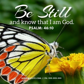 Psalm 46:10 Poster template