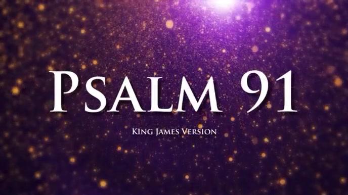 psalm 91 bible chapter Pantalla Digital (16:9) template