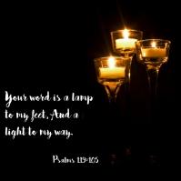 Psalms 119:105 Publicação no Instagram template