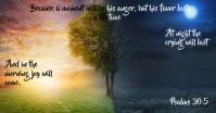 psalms 30:5 Gedeelde afbeelding op Facebook template