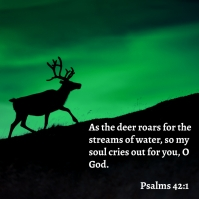 Psalms 42:1 Instagram Post template