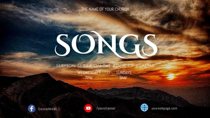 Psalms sermon series 数字显示屏 (16:9) template