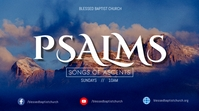 Psalms song of ascents Digital na Display (16:9) template