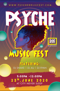 Psychedelic Indie Pop Concert Music Poster