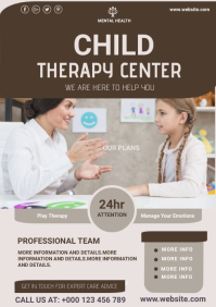 Psychological clinic,mental health A4 template