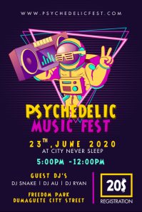 Psychonauts Music Festival Poster