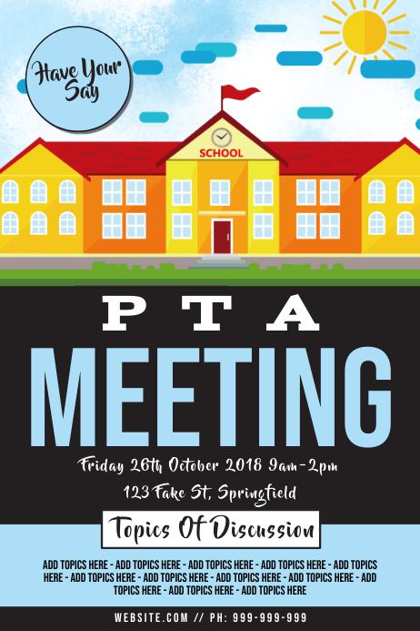 PTA Meeting Poster