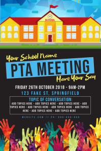 PTA Meeting Poster template