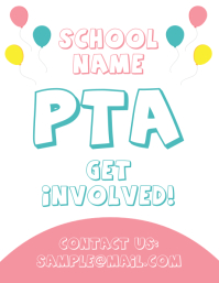 PTA Parent Teacher Association School Flyer